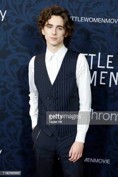 """Timothee Chalamet attends the world premiere of """"Little Women"""" at Museum of Modern Art on December 07, 2019 in New York City."""