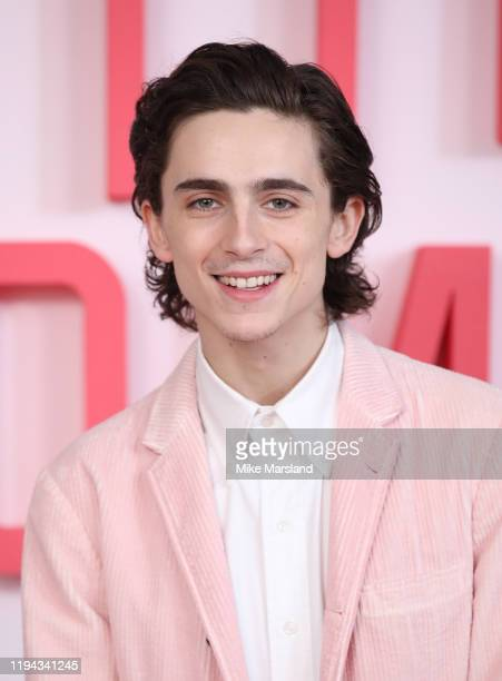Timothee Chalamet during the Little Women photocall at Soho Hotel on December 16 2019 in London England