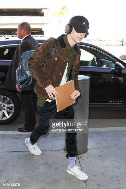 Timothee Chalamet is seen on February 08 2018 in Los Angeles California