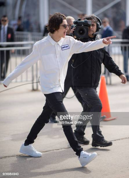 Timothee Chalamet is seen on March 03 2018 in Los Angeles California