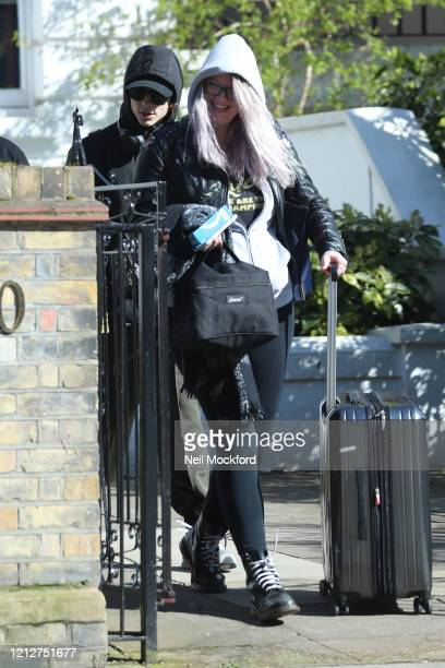 Timothee Chalamet seen leaving a house in Notting Hill with suitcases on March 16 2020 in London England
