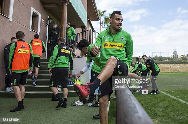 Timothee Kolodziejczak of Borussia Moenchengladbach during a Training Session at Borussia Moenchengladbach Training Camp on January 07 2017 in...