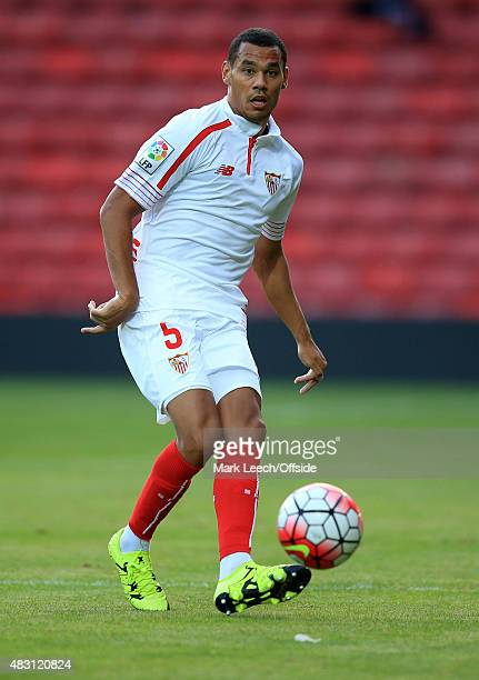 Timothee Kolodziejczak of Sevilla during the pre season match beween Watford and Sevilla at Vicarage Road on July 31 2015 in Watford England
