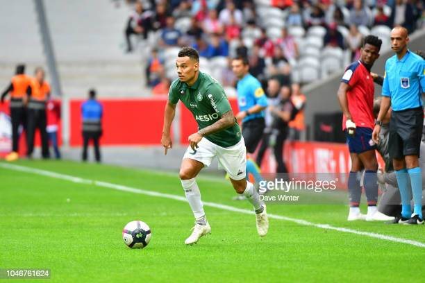 Timothee Kolodziejczak of St Etienne during the Ligue 1 match between Lille and Saint Etienne at Stade Pierre Mauroy on October 6 2018 in Lille France