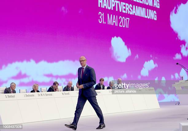 Timotheus Hoettges chairman of Deutsche Telekom arrives at the general assembly in Cologne Germany 31 May 2017 Photo Oliver Berg/dpa