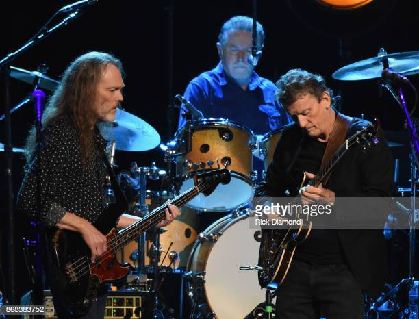 Timothy B Schmit Don Henley and Steuart Smith of the Eagles perform during SiriusXM presents the Eagles in their first ever concert at the Grand Ole...