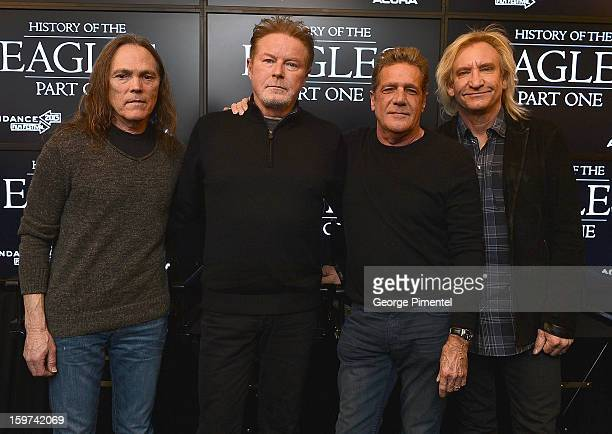 Timothy B Schmit Don Henley Glenn Frey and Joe Walsh of The Eagles attend the History of the Eagles Part 1 Documentary Announcement during the 2013...