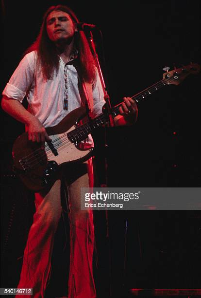Timothy B Schmit of American country rock band Poco performs on stage London 1976