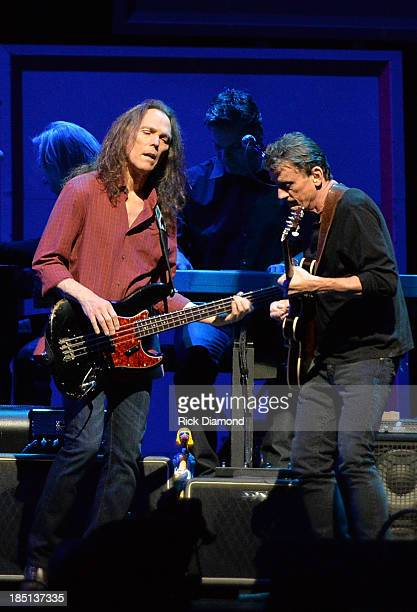 """Timothy B. Schmit of the Eagles and Steuart Smith perform during """"History Of The Eagles Live In Concert"""" at the Bridgestone Arena on October 16, 2013..."""