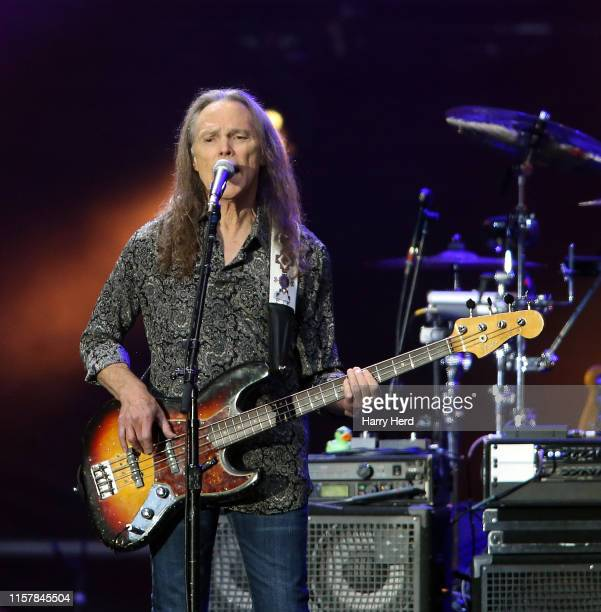 Timothy B Schmit of the Eagles performs at Wembley Stadium on June 23 2019 in London England