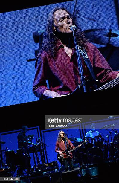 """Timothy B. Schmit of the Eagles performs during """"History Of The Eagles Live In Concert"""" at the Bridgestone Arena on October 16, 2013 in Nashville,..."""