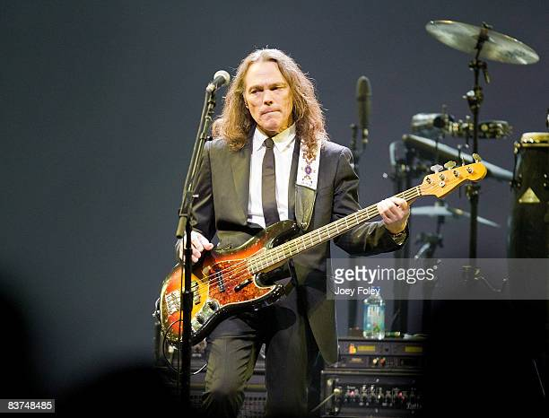 Timothy B Schmit of The Eagles performs live on the Long Road Out Of Eden Tour at U S Bank Arena on November 18 2008 in Cincinnati Ohio