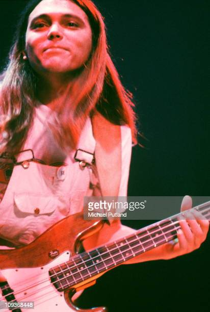Timothy B Schmit of The Eagles performs on stage, New York, October 1979.