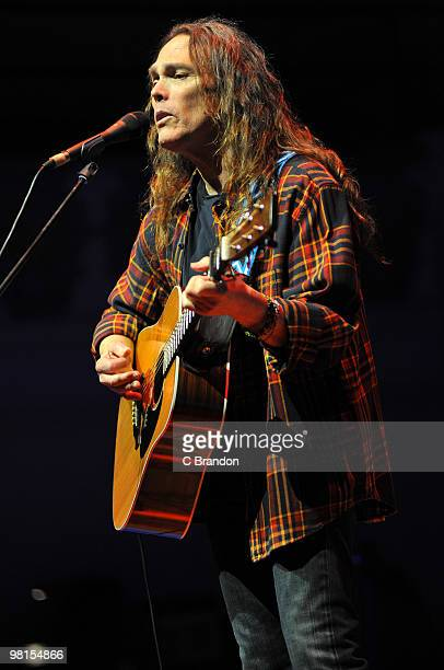 Timothy B Schmit performs on stage at Cadogan Hall on March 30 2010 in London England