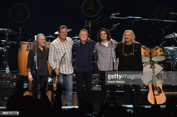 Timothy B Schmit Vince Gill Don Henley Deacon Frey and Joe Walsh of the Eagles perform during SiriusXM presents the Eagles in their first ever...