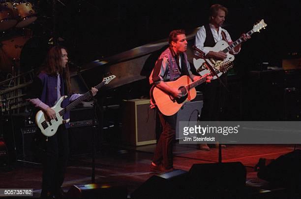 Timothy B Schmitt Glenn Frey and Don Felder of the Eagles perform at the Target Center in Minneapolis Minnesota on February 21 1995