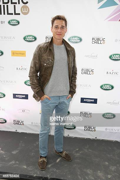 Timothy Boldt attends the Land Rover Public Chill 2014 at km689 on August 17 2014 in Cologne Germany