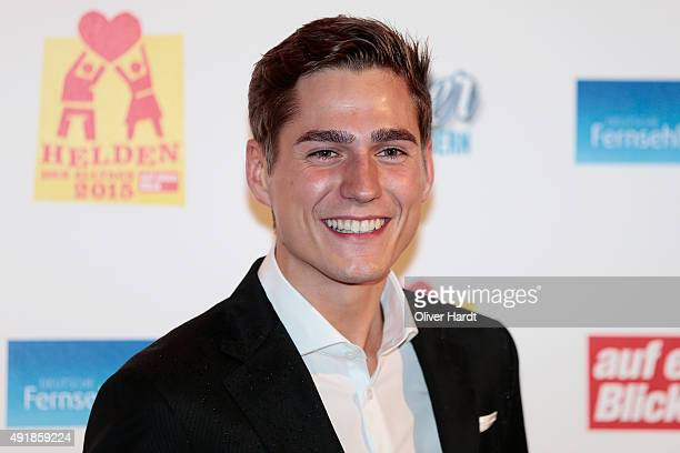 Timothy Boldt poses during the 'Helden des Alltags 2015' gala at Theater Kehrwieder on October 8 2015 in Hamburg Germany