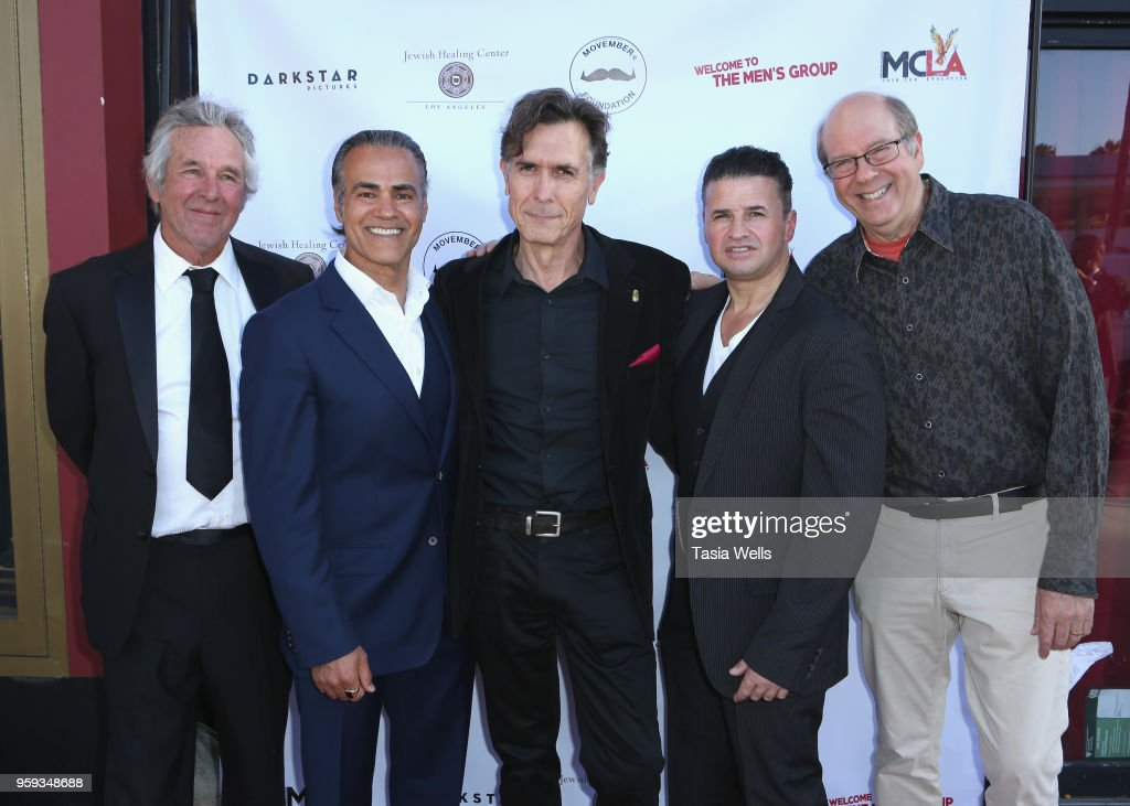 Timothy Bottoms, Ali Saam, Joseph Culp, Terence J. Rotolo and Stephen Tobolowsky attend the premiere of Dark Star Pictures' 'Welcome to the Men's Group' at Ahrya Fine Arts Theater on May 16, 2018 in Beverly Hills, California.