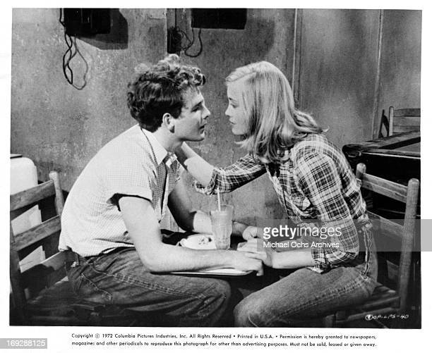 Timothy Bottoms is proposed to by Cybill Shepherd in a scene from the film 'The Last Picture Show' 1971