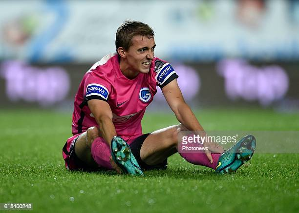 Timothy Castagne defender of KRC Genk looks dejected pictured during Jupiler Pro League match between RCS Charleroi and KRC GENK on October 26 2016...