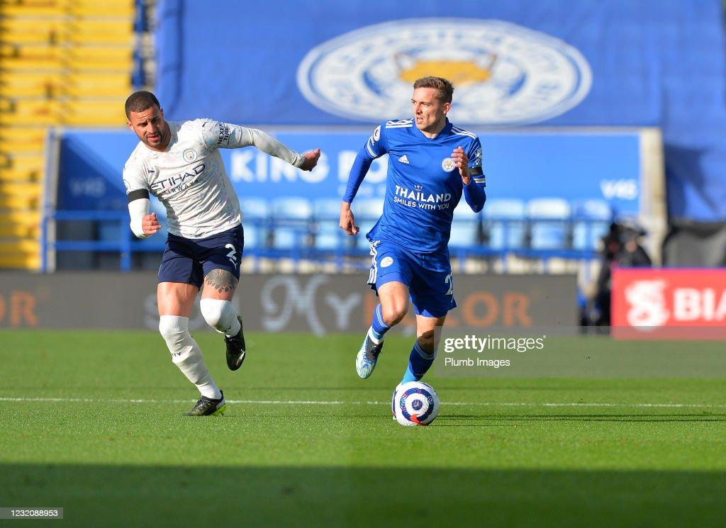 Leicester City v Manchester City - Premier League : Nieuwsfoto's