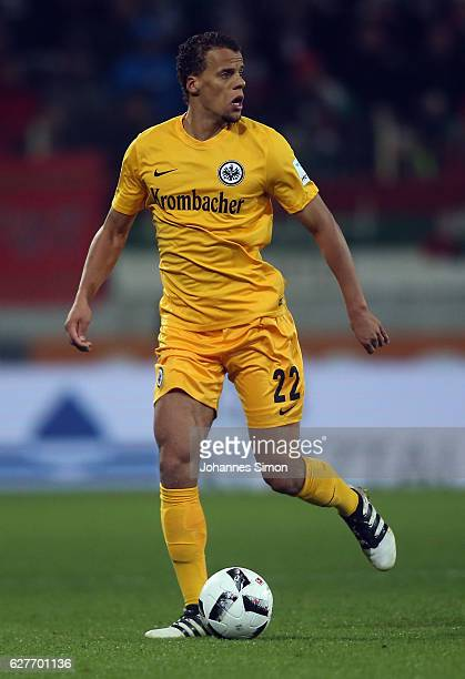 Timothy Chandler of Frankfurt in action during the Bundesliga match between FC Augsburg and Eintracht Frankfurt at WWK Arena on December 4 2016 in...