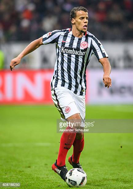 Timothy Chandler of Frankfurt in action during the Bundesliga match between Eintracht Frankfurt and TSG 1899 Hoffenheim at CommerzbankArena on...