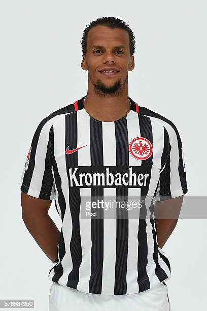 Timothy Chandler poses during the Eintracht Frankfurt Team Presentation on July 21 2016 in Frankfurt am Main Germany