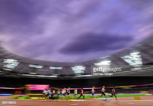 Timothy Cheruiyot of Kenya leads the field in the Men's 1500 metres semi finals during day eight of the 16th IAAF World Athletics Championships...