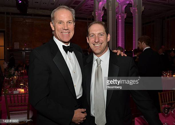 Timothy Coleman senior managing director of Blackstone Group LP left and managing director Steve Zelin stand for a photograph at the Municipal Art...