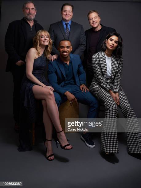 Timothy Dalton Brendan Fraser Alan Tudyk April Bowlby Joivan Wade and Diane Guerrero of DC Universe's 'Doom Patrol' pose for a portrait during the...