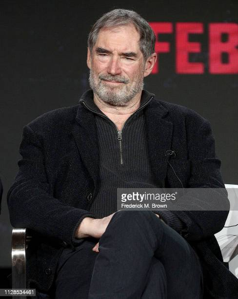 Timothy Dalton of the television show Doom Patrol speaks during the Warner Bros segment of the 2019 Winter Television Critics Association Press Tour...