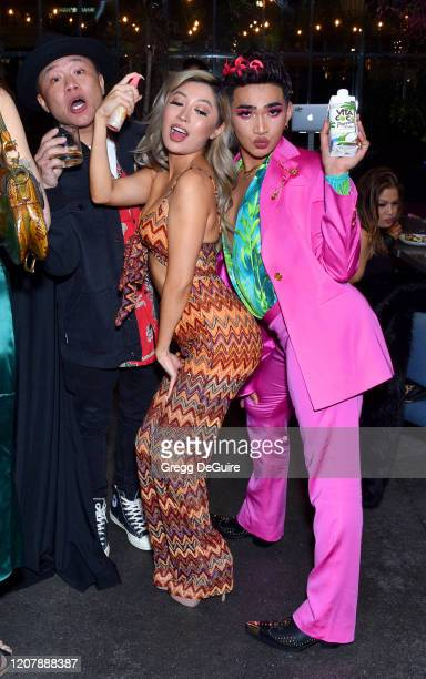 Timothy DeLaGhetto guest and Bretman Rock attend Jungle Rock x wet n wild on February 21 2020 in Los Angeles California