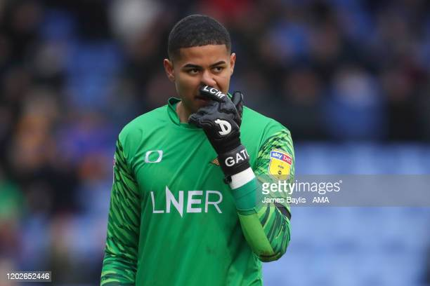 Timothy Dieng of Doncaster Rovers during the Sky Bet League One match between Shrewsbury Town and Doncaster Rovers at Montgomery Waters Meadow on...