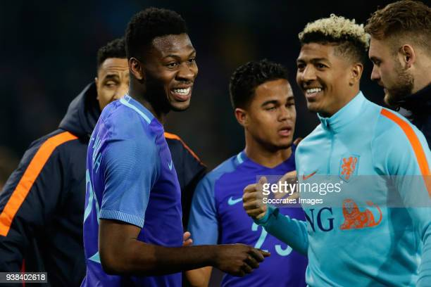 Timothy Fosu Mensah of Holland Justin Kluivert of Holland Patrick of Aanholt of Holland during the International Friendly match between Portugal v...
