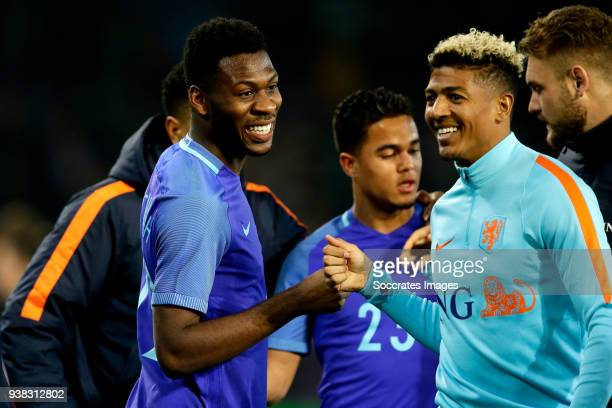Timothy Fosu Mensah of Holland Patrick of Aanholt of Holland celebrates the victory during the International Friendly match between Portugal v...