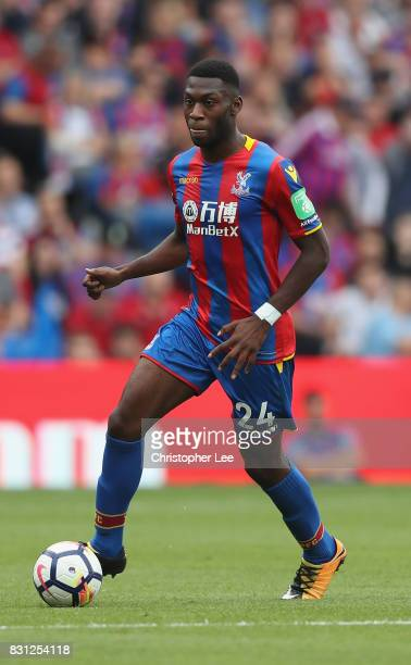 Timothy FosuMensah of Crystal Palace in action during the Premier League match between Crystal Palace and Huddersfield Town at Selhurst Park on...