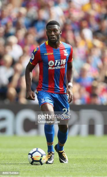 Timothy FosuMensah of Crystal Palace in action during the Premier League match between Crystal Palace and Swansea City at Selhurst Park on August 26...