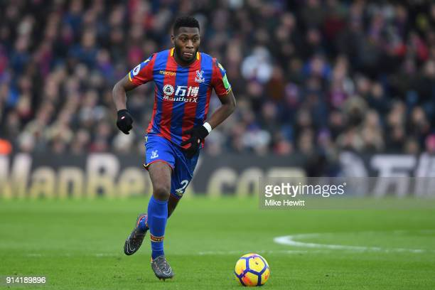 Timothy FosuMensah of Crystal Palace in action during the Premier League match between Crystal Palace and Newcastle United at Selhurst Park on...