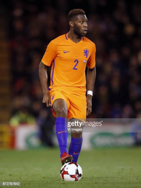 Timothy FosuMensah of Holland during the friendly match between Scotland and The Netherlands on November 09 2017 at Pittodrie Stadium in Aberdeen...