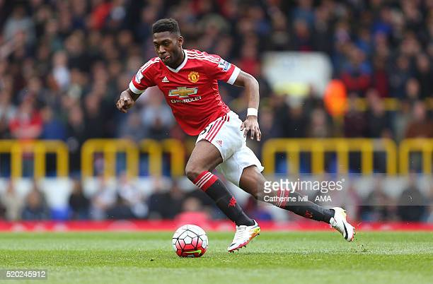 Timothy FosuMensah of Manchester United during the Barclays Premier League match between Tottenham Hotspur and Manchester United at White Hart Lane...