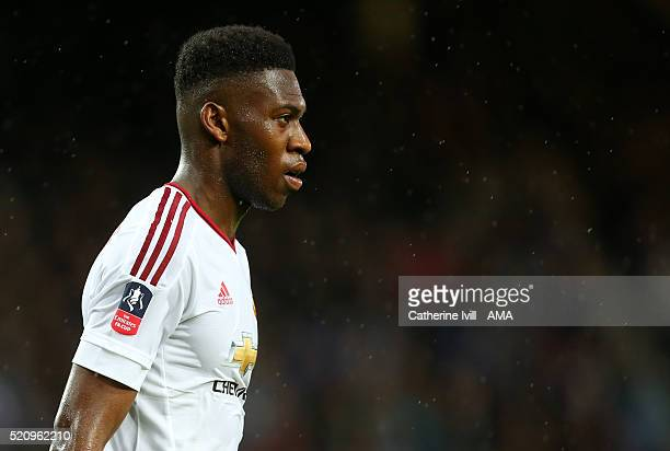 Timothy FosuMensah of Manchester United during the Emirates FA Cup Sixth Round Replay match between West Ham United and Manchester United at Boleyn...
