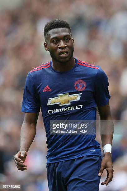 Timothy FosuMensah of Manchester United during the preseason friendly between Wigan Athletic and Manchester United at JJB Stadium on July 16 2016 in...