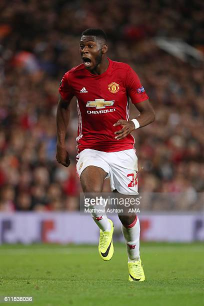 Timothy FosuMensah of Manchester United during the UEFA Europa League match between Manchester United FC and FC Zorya Luhansk at Old Trafford on...