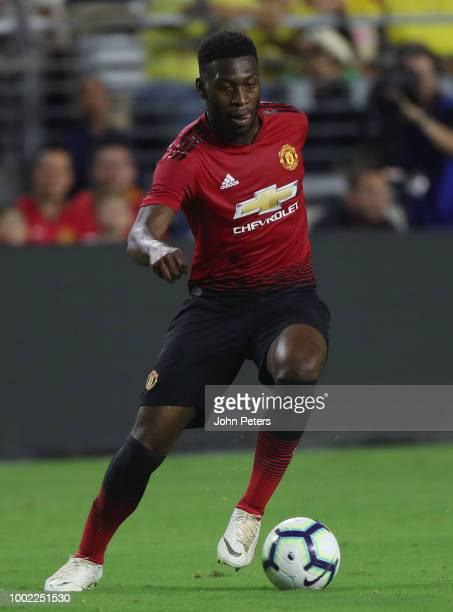 Timothy FosuMensah of Manchester United in action during the preseason friendly match between Manchester United and Club America at University of...