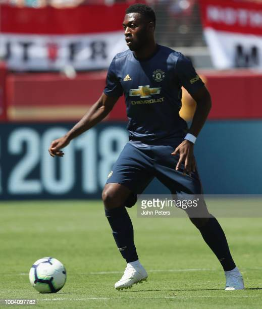Timothy FosuMensah of Manchester United in action during the preseason friendly match between Manchester United and San Jose Earthquakes at Levi's...