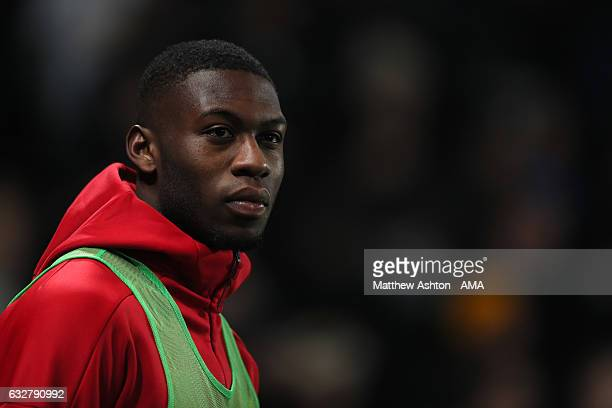 Timothy FosuMensah of Manchester United looks on during the EFL Cup SemiFinal second leg match between Hull City and Manchester United at KCOM...