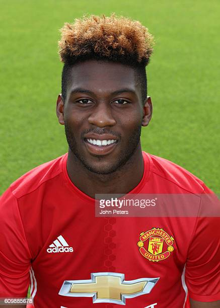 Timothy FosuMensah of Manchester United poses for a portrait at the Manchester United Official Photocall on September 19 2016 in Manchester England