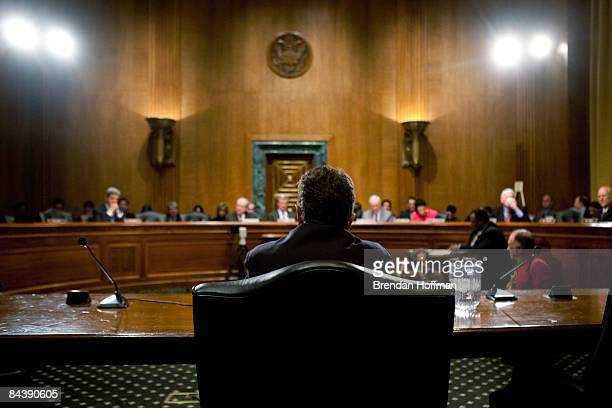 Timothy Geithner President Barack Obama's nominee for Treasury Secretary testifies at his confirmation hearing before the Senate Committee on Finance...